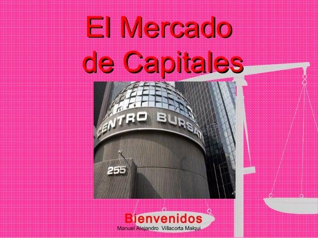 Manuel Alejandro Villacorta Malqui El MercadoEl Mercado de Capitalesde Capitales Bienvenidos