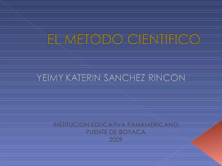 INSTITUCION EDUCATIVA PANAMERICANO PUENTE DE BOYACA 2009