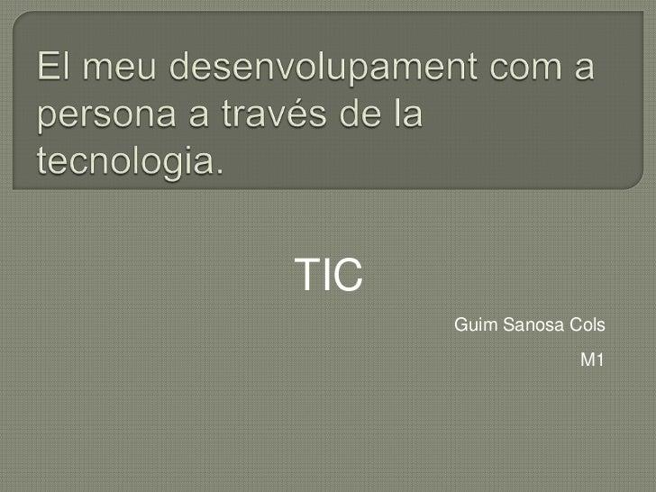 TIC      Guim Sanosa Cols                   M1