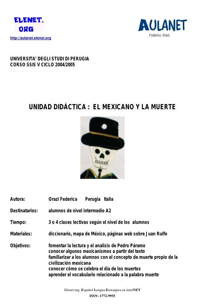 Federica Orazihttp://aulanet.elenet.orgUNIVERSITA' DEGLI STUDI DI PERUGIACORSO SSIS V CICLO 2004/2005           UNIDAD DID...