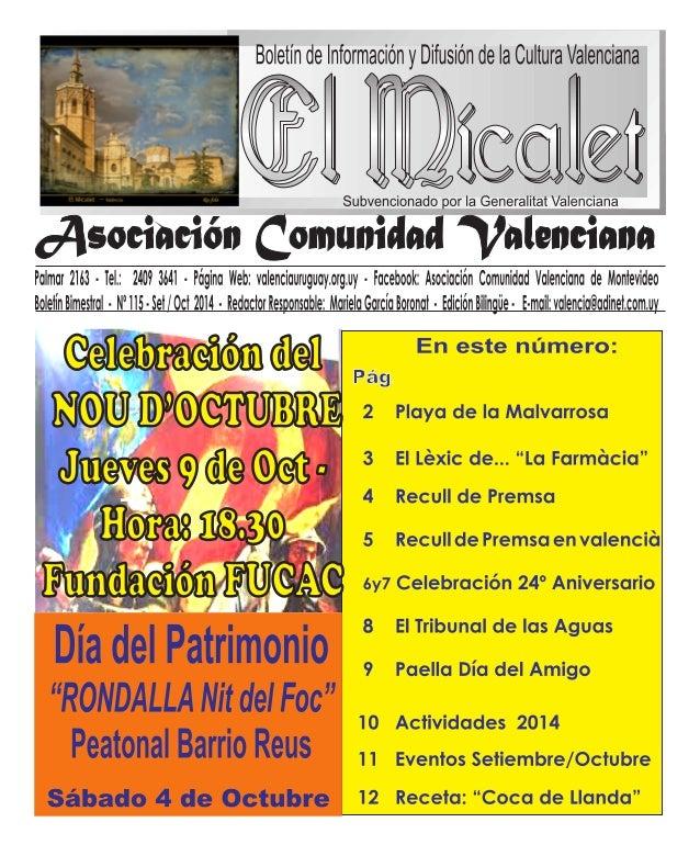 ( /1,11'.    /  a: @'7iifi lf. ll7'l'r'ri611,6116  6  6%  fusion de la Cultura Valenciana  Subvencionado por la Generalita...