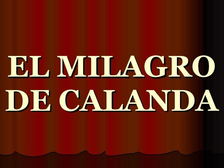 EL MILAGRO DE CALANDA