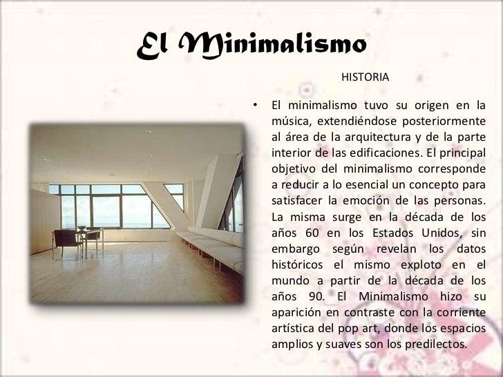 Minimalismo for Arte arquitectura definicion