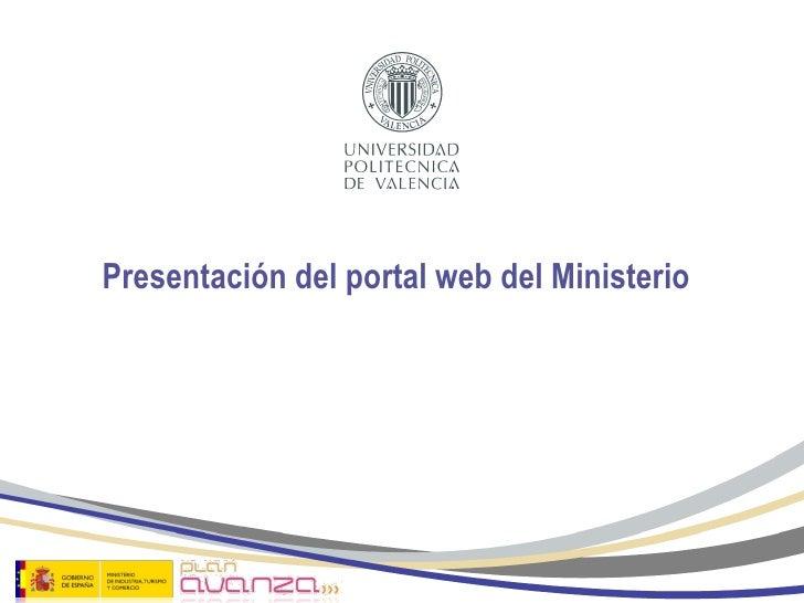 El ministerio de sanidad y pol tica social en internet for Pagina web del ministerio