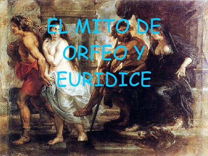 EL MITO DE ORFEO Y EURIDICE