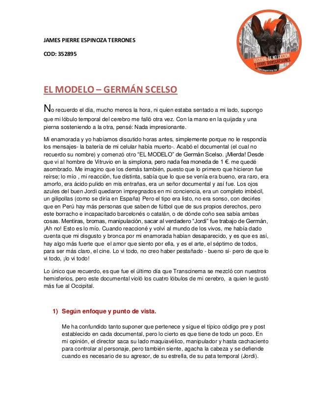 """Germán Scelso """"El modelo""""   james espinoza terrones Slide 2"""