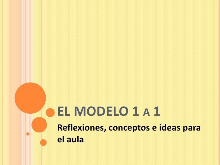 EL MODELO 1 A 1Reflexiones, conceptos e ideas parael aula