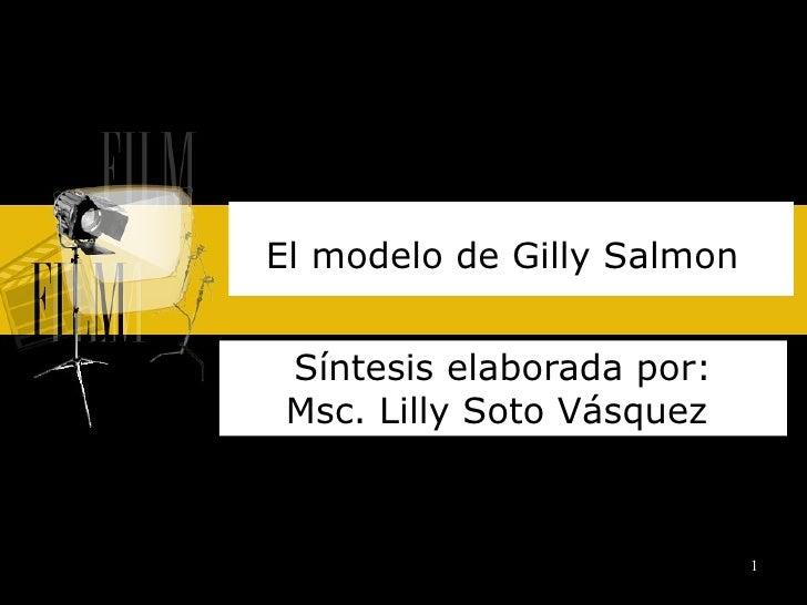 El modelo de Gilly Salmon   Síntesis elaborada por: Msc. Lilly Soto Vásquez