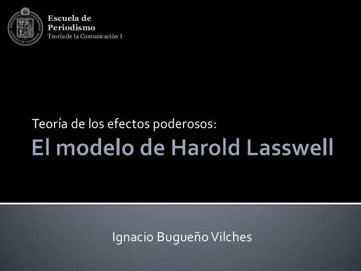 Escuela de  Periodismo  Teoría de la Comunicación ITeoría de los efectos poderosos:                         Ignacio Bugueñ...