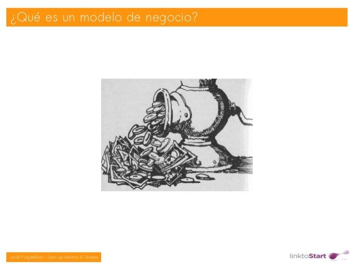 ¿Qué es un modelo de negocio?                                               Jordi Puigdellívol – Start-up Mentor & Sherpa
