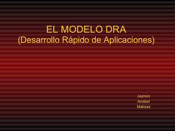 EL MODELO DRA (Desarrollo Rápido de Aplicaciones) Jazmín Anabel Melissa