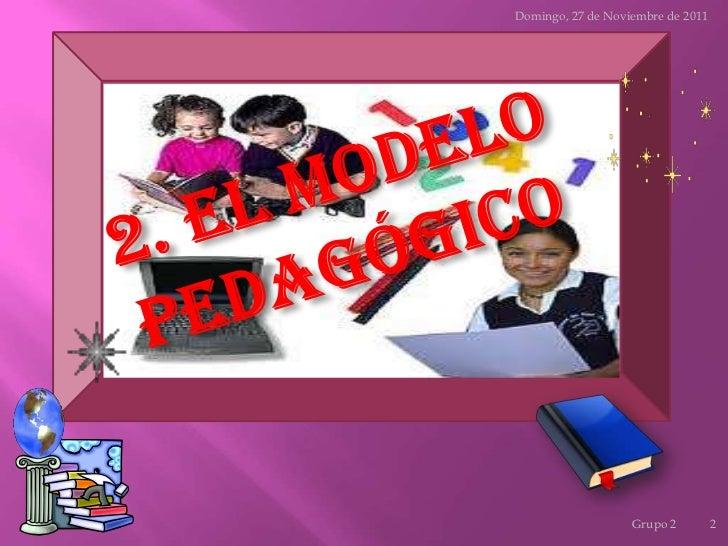 El modelo pedagógico Slide 2