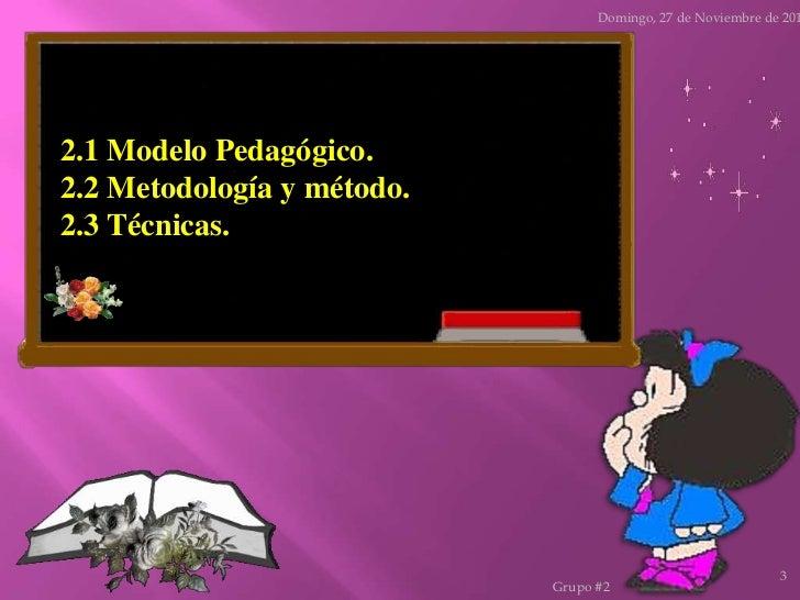 El modelo pedagógico Slide 3