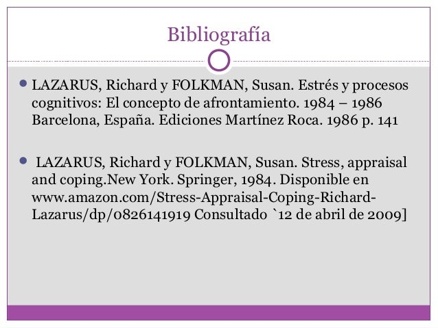 richard lazarus and susan folkman s and stress and coping paradigm