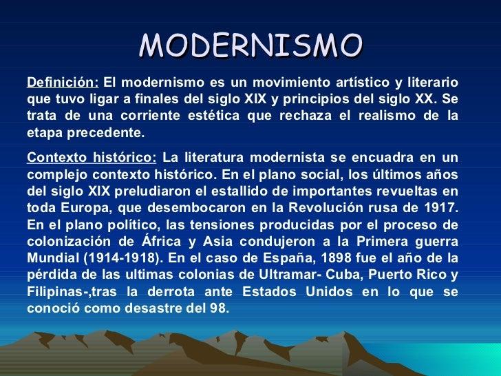 El Modernismo Slide 2