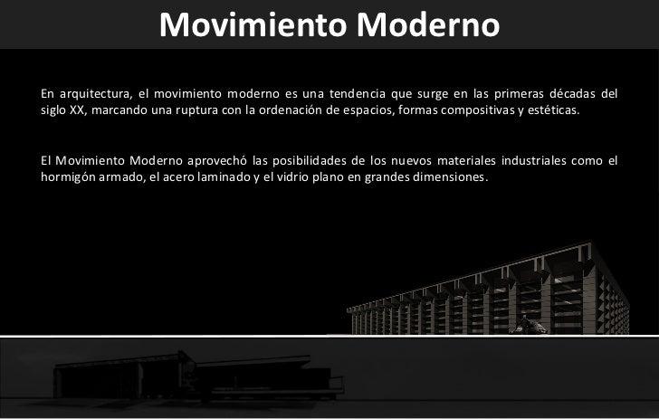 El moderno en colombia - Movimiento moderno ...