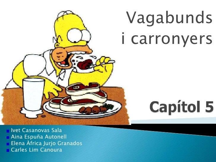 Vagabunds <br />i carronyers<br />Capítol 5<br />Ivet Casanovas Sala<br /> Aina Espuña Autonell<br /> Elena Àfrica Jurjo G...