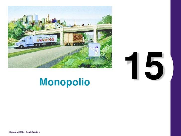 Monopolio                                       15Copyright©2004 South-Western