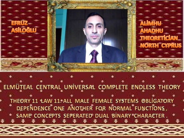 Elmüteal  central  global  uni̇versal  complete  endless  theory 11 law 11