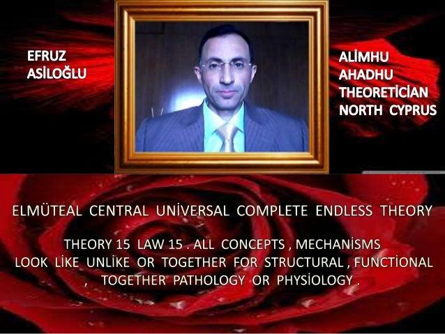 Elmüteal  central  global  uni̇versal  complete  endless  theory 15 law 15