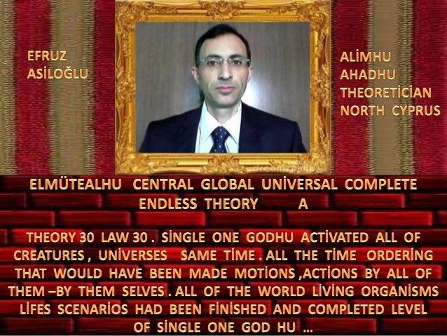 Elmütealhu  central  global  uni̇versal  complete  endless  theory 30 law 30  a