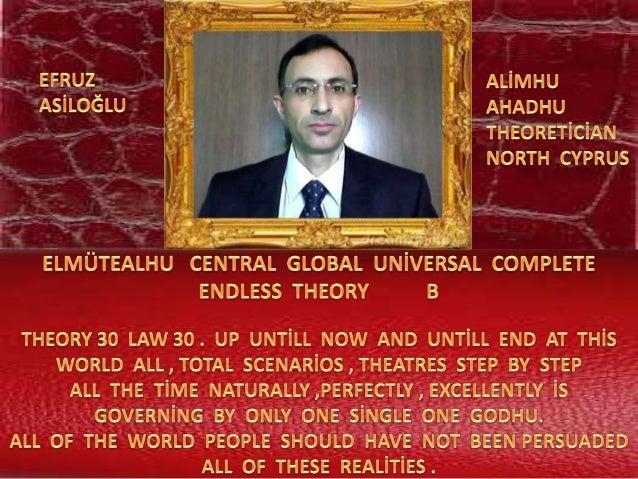 Elmütealhu  central  global  uni̇versal  complete  endless  theory 30 law 30  b