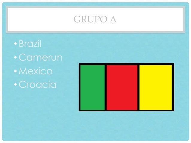 GRUPO A  • Brazil  •Camerun  • Mexico  • Croacia