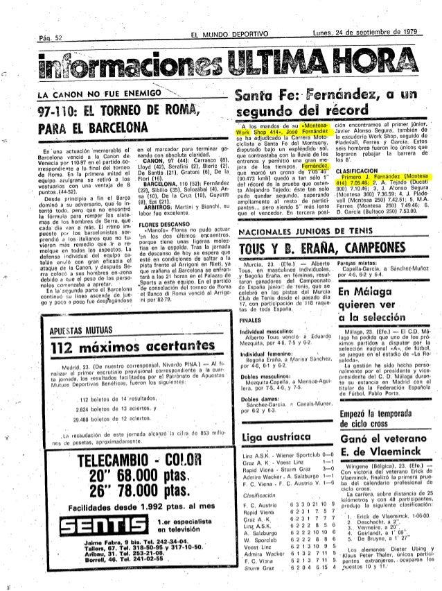 EL MUNDO:DEPORTIVO                         iunes     24 deseotiembrede1979_Páci. 52                                       ...