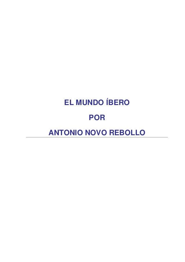 El mundo ibero