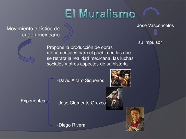 El Muralismo<br />José Vasconcelos<br /> su impulsor <br />Movimiento artístico de origen mexicano<br />Propone la producc...