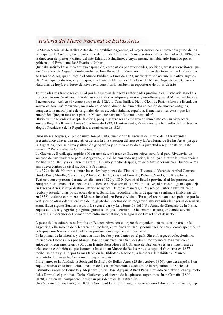 El Museo Nacional de Bellas Artes de la República Argentina, el mayor acervo de nuestro país y uno de los principales de A...