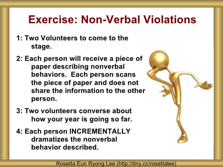 nonverbal violation essay Expectancy violation theory in interpersonal communication (research expectancy violation theory in interpersonal nonverbal expectancy violation.