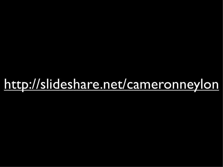 http://slideshare.net/cameronneylon