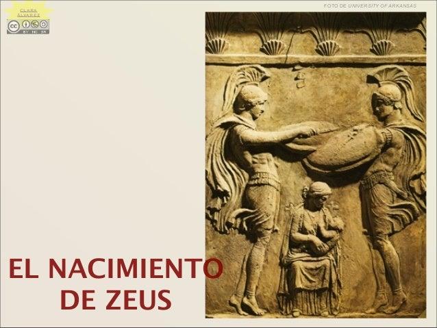 EL NACIMIENTO DE ZEUS FOTO DE UNIVERSITY OF ARKANSAS CLARA ÁLVAREZ