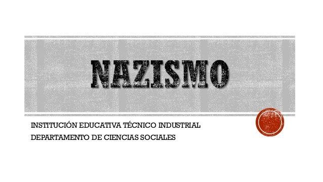 INSTITUCIÓN EDUCATIVA TÉCNICO INDUSTRIAL DEPARTAMENTO DE CIENCIAS SOCIALES