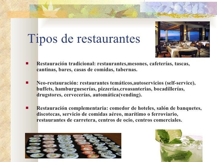 El negocio de la restauraci n for Tipos de restaurantes franceses