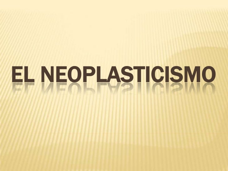 EL NEOPLASTICISMO