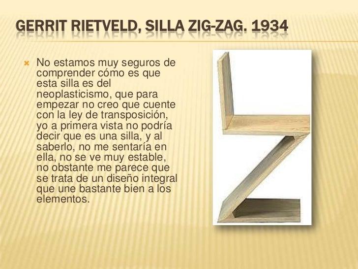El neoplasticismo for Silla zig zag planos