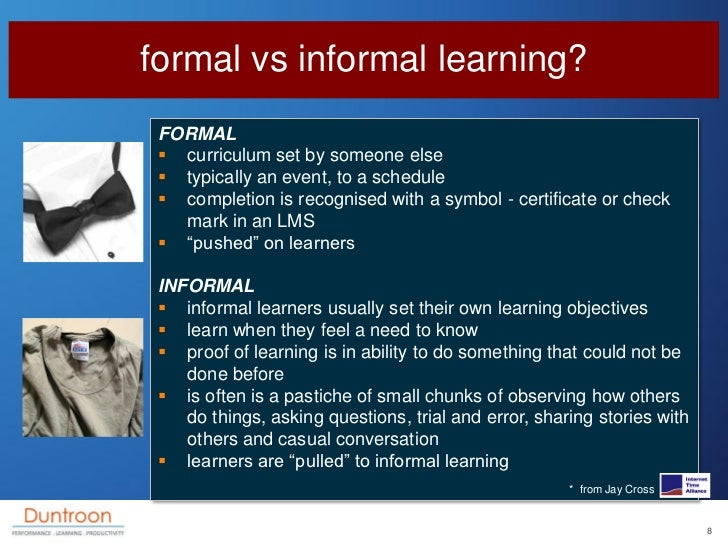 formal vs informal learning  formal