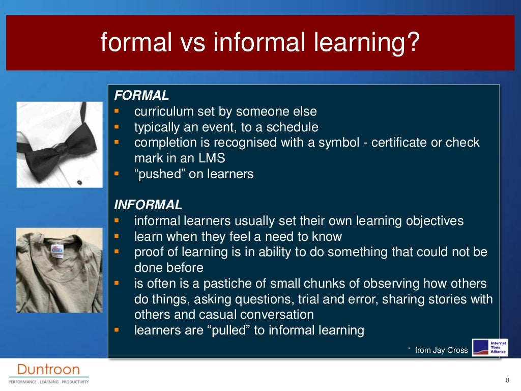 my education formal and informal learning
