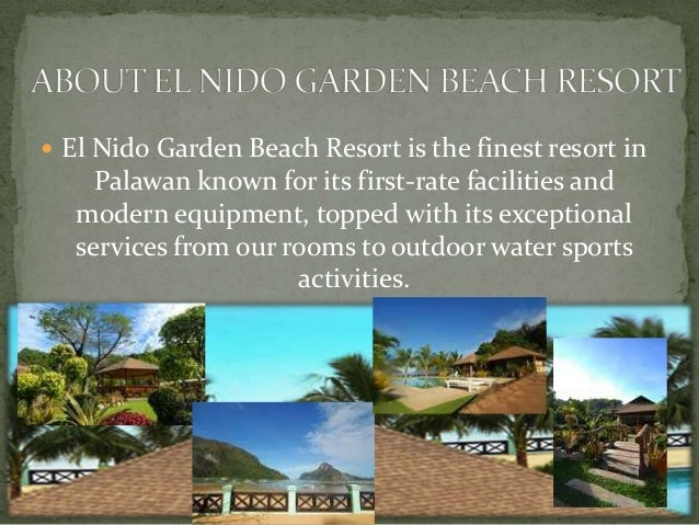 3.  El Nido Garden Beach Resort ...