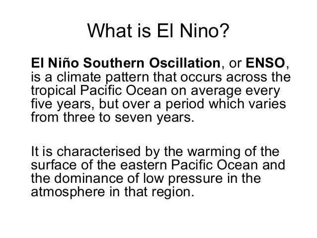 El Nino – El Nino Worksheet