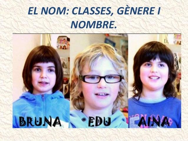 EL NOM: CLASSES, GÈNERE I NOMBRE.