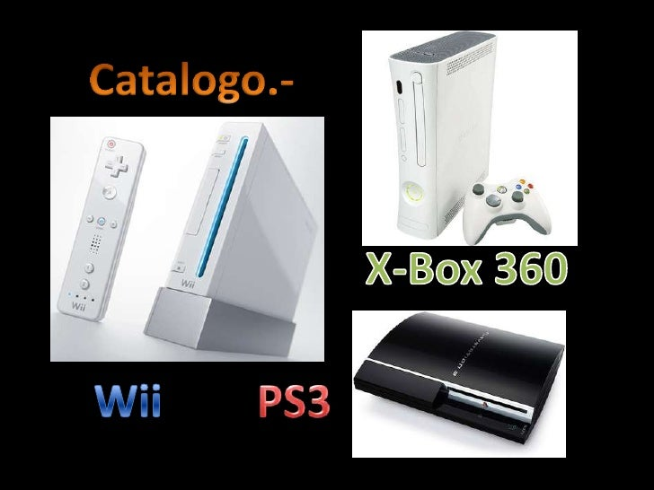 Catalogo.-<br />X-Box 360<br />Wii<br />PS3<br />