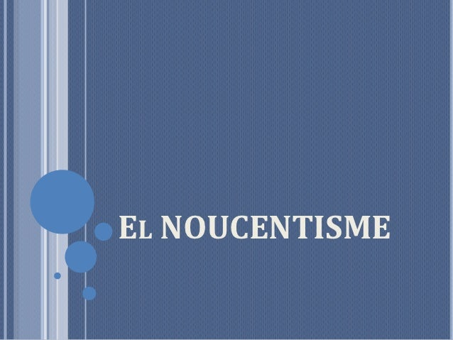 EL NOUCENTISME
