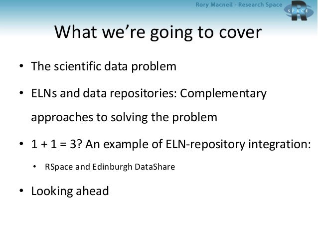 Integrating an electronic lab notebook with a data repository; American Chemical Society March 2014 Slide 2