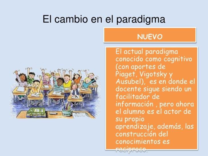 El cambio en el paradigma                    NUEVO              El actual paradigma              conocido como cognitivo  ...