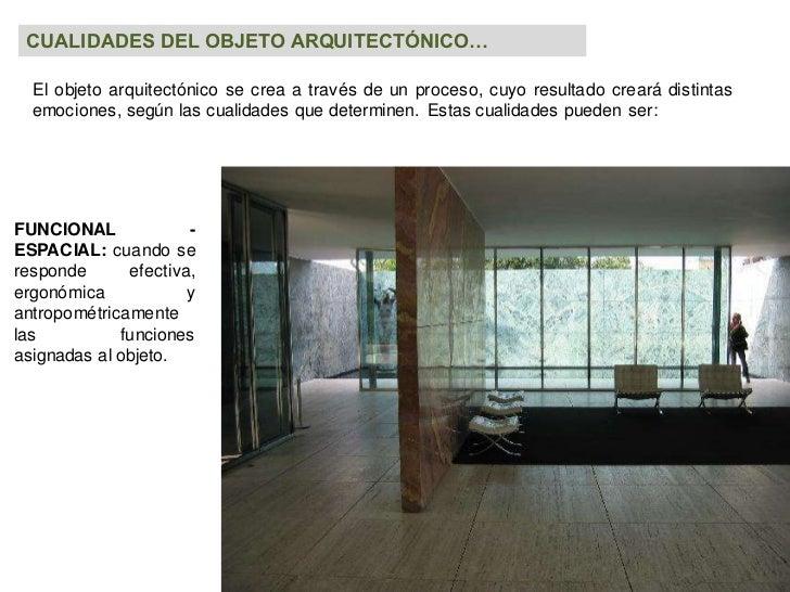 El objeto en la arquitectura for Arquitectura ergonomica