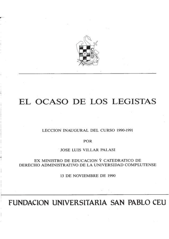 El ocaso de los legistas