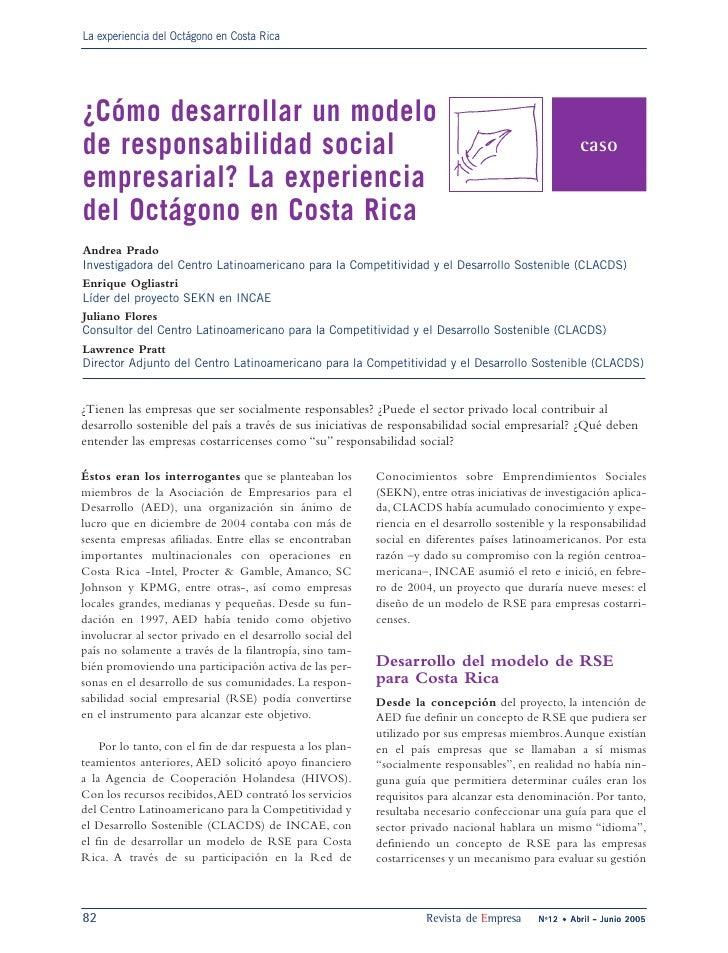 La experiencia del Octágono en Costa Rica     ¿Cómo desarrollar un modelo de responsabilidad social                       ...